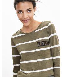 "Banana Republic   Green Stripe ""le Tee"" Shirt   Lyst"