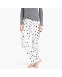 J.Crew | Black Bow Flannel Pajama Pant | Lyst