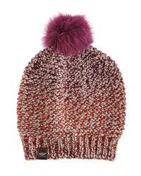 UGG | Multicolor Grand Meadow Beanie W/ Fur Pompom | Lyst