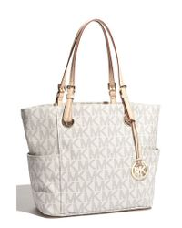 MICHAEL Michael Kors | Natural 'jet Set Signature' Tote | Lyst