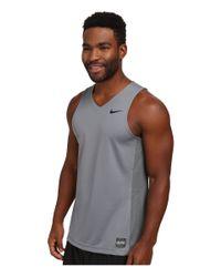 Nike - Gray Elite Basketball Tank for Men - Lyst