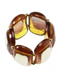 Kenneth Jay Lane | Brown Women's Tortoise Resin Bracelet | Lyst