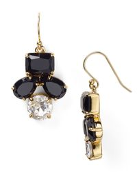 kate spade new york - Black Secret Garden Drop Earrings - Lyst