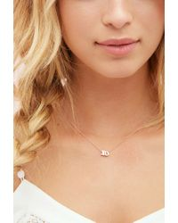 Forever 21 | Metallic Adorn512 Xo Rose Gold Necklace | Lyst