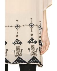 Mes Demoiselles - White Chelem Embellished Silk Crepe Dress - Lyst