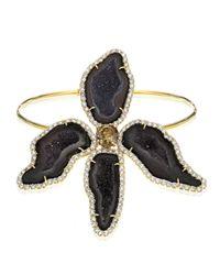 Kimberly Mcdonald - Multicolor Dark Geode & Pavé Diamond Orchide Bracelet - Lyst