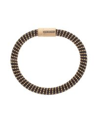 Carolina Bucci - Black Yellow Gold Twister Bracelet - Lyst