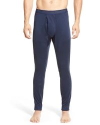 Patagonia | Blue 'capilene 3' Midweight Base Layer Pants for Men | Lyst