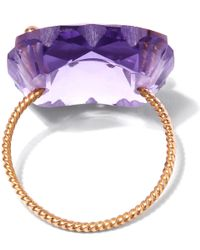 Laurent Gandini - Purple Rose Gold Amethyst Scalloped Ring - Lyst