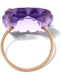 Laurent Gandini | Purple Rose Gold Amethyst Scalloped Ring | Lyst