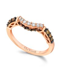 Le Vian - Pink Chocolate and White Diamond Engagement Ring in 14k Rose Gold 14 Ct Tw - Lyst