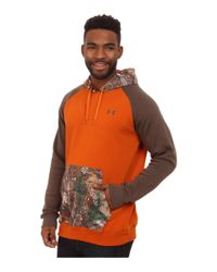 Under Armour | Orange Terminator Camo Hoodie for Men | Lyst