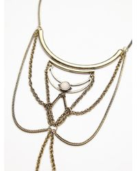 Free People | Metallic New Age Collar | Lyst
