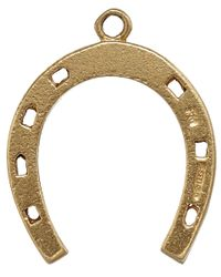 Annina Vogel - Metallic Vintage Gold Thin Horseshoe Charm - Lyst