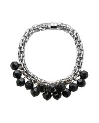 Marni | Black Silvertone Cabochon Necklace | Lyst