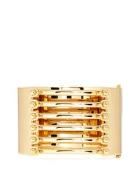 Chloé | Metallic 'frances' Open Bar Brass Bangle | Lyst