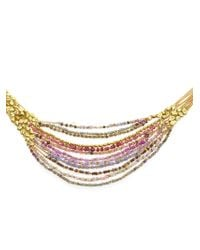 Natasha Collis - Metallic Hand-Melted 18Kt Yellow Gold Collar Necklace - Lyst