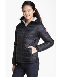 Canada Goose | Black 'camp' Slim Fit Hooded Down Jacket | Lyst