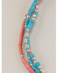 Paul Smith - Blue Beaded Bracelet for Men - Lyst