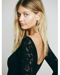 Free People - Black Intimately Womens Midnight Story 3/4 Sleeve - Lyst