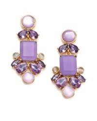 kate spade new york | Purple Glitzy Spritz Statement Drop Earrings | Lyst