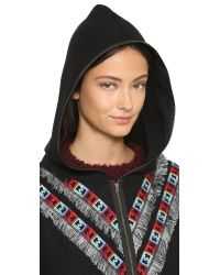 6 Shore Road By Pooja | Gypsy Embroidered Poncho - Black Rock | Lyst
