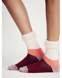 Free People - Orange Womens Fireside Slipper Sock - Lyst