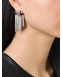 Iosselliani - Metallic 'black Hole Sun' Cheetah Earrings - Lyst