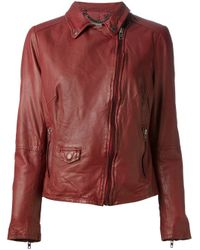 Muubaa - Brown Classic Biker Jacket - Lyst