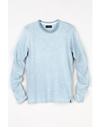 Velvet By Graham & Spencer | Blue Remington Vintage Indigo Stripe Crew Neck Tee for Men | Lyst