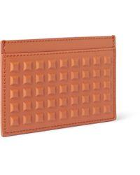 Balenciaga - Orange Studded Matte-Leather Cardholder for Men - Lyst