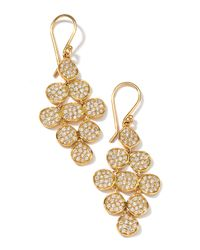 Ippolita | Metallic 18k Gold Stardust Flower Cascade Earrings With Diamonds | Lyst