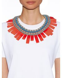 Weekend by Maxmara - Red Ginevra Rope And Beads Necklace - Lyst