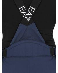 EA7 - Blue Nylon Water Resistant Ski Pants for Men - Lyst