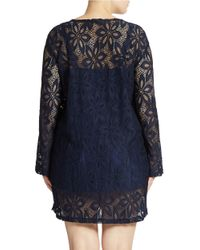 J Valdi   Blue Plus Lace-Look Cover Up   Lyst