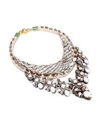 Shourouk | White River Chalk Necklace | Lyst