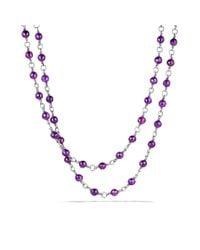 David Yurman - Purple Bead Necklace with Amethyst - Lyst