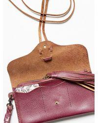 Free People | Purple Leather Wrap Wallet | Lyst