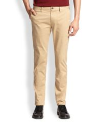 Burberry Brit - Brown Skinny-Fit Chino Trousers for Men - Lyst