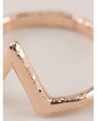 Bjorg - Pink Alphabet V Ring - Lyst