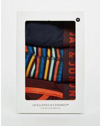 Jack & Jones - Multicolor 3 Pack Trunks With Stripe for Men - Lyst