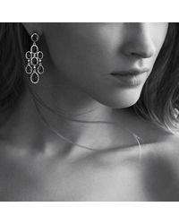 David Yurman - Blue Dy Signature Collection Chandelier Earrings - Lyst