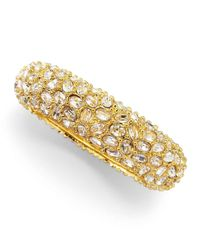 Kenneth Jay Lane - Yellow Crystal-encrusted Bracelet - Lyst