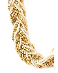 Forever 21 - Metallic Eclectic Braided Bead Necklace - Lyst