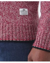Penfield - Red Gering Melange 2tone Sweater for Men - Lyst