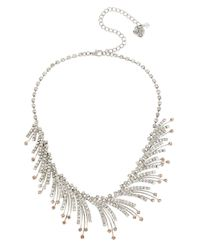 Betsey Johnson | Metallic Ballerina Rose Spray Necklace | Lyst