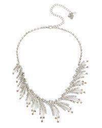 Betsey Johnson - Metallic Ballerina Rose Spray Necklace - Lyst