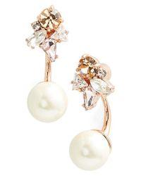 kate spade new york - Metallic 'dainty Sparklers' Drop Back Earrings - Neutral Multi - Lyst