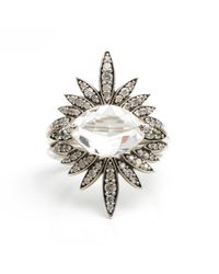Alexis Bittar | Metallic Silver Gaze Marquis Sunburst Ring You Might Also Like | Lyst