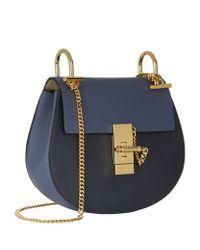 Chloé - Blue Mini Drew Bicolour Shoulder Bag - Lyst